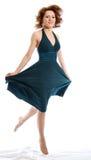 женщина летания платья стоковое фото rf