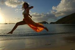 женщина летания Стоковые Фотографии RF