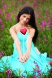 женщина лета цветка поля Стоковые Фотографии RF