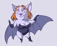 женщина летучей мыши сексуальная Стоковое фото RF
