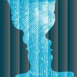 женщина ливня человека Стоковое Изображение RF