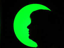 женщина луны Стоковые Фото