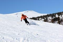 женщина лыжника Стоковые Фотографии RF