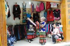 женщина магазина китайских miaos старая Стоковое Фото