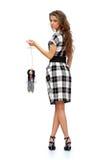 женщина марионетки удерживания куклы Стоковые Изображения