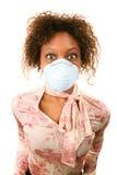 женщина маски гриппа нося Стоковая Фотография RF