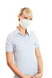 женщина маски гриппа Стоковые Фотографии RF