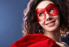 женщина маски масленицы Стоковое Фото