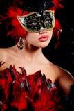 женщина маски масленицы Стоковое фото RF