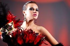 женщина маски масленицы Стоковая Фотография RF