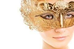 женщина маски масленицы Стоковые Фото