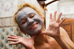 женщина маски Стоковые Фото