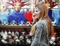 женщина маски Стоковое Изображение