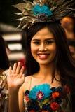 Женщина масленицы Malang, Индонезии стоковое фото