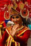 Женщина масленицы Malang, Индонезии стоковые фотографии rf