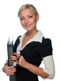 женщина менеджера скоросшивателя Стоковые Изображения RF