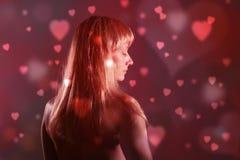 Женщина мечтая о влюбленности Стоковые Фотографии RF