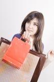 женщина мешков ходя по магазинам Стоковая Фотография RF
