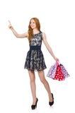 женщина мешков ходя по магазинам Стоковые Фото