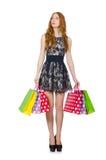 женщина мешков ходя по магазинам Стоковое Фото
