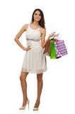 женщина мешков ходя по магазинам Стоковое Изображение