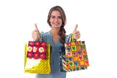 женщина мешков ходя по магазинам Стоковое Изображение RF