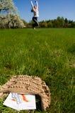 женщина микстуры лужка Стоковые Фотографии RF