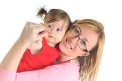 Женщина младенца Стоковое Изображение