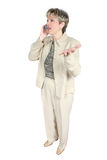 женщина мобильного телефона дела Стоковое фото RF