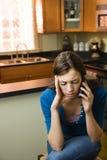 женщина мобильного телефона Стоковое Изображение