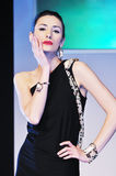 Женщина модного парада Стоковое фото RF