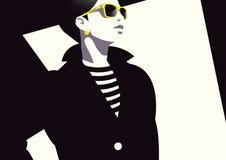 Женщина моды в искусстве шипучки стиля Стоковая Фотография RF
