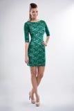 Женщина моды в платье стоковые изображения rf