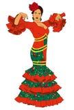 Женщина моды в платье Стоковое Фото