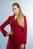 Женщина моды с стилем зимы Стоковое Фото
