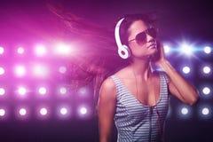 Женщина музыки стоковые изображения rf