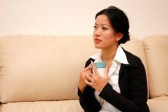 женщина мыслей Стоковое фото RF