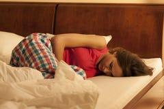 женщина нажатия терпя Стоковая Фотография RF