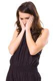 женщина нажатия Стоковая Фотография