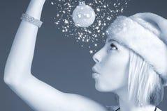 женщина настроения праздника милая Стоковое Изображение
