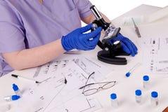 женщина науки лабораторных исследований Стоковая Фотография RF
