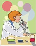 женщина научного работника Стоковые Фотографии RF