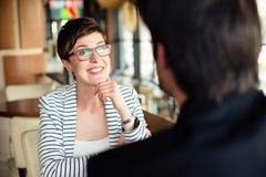 Женщина на деловой встрече Стоковые Изображения