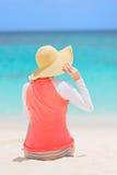 Женщина на каникулах Стоковое фото RF