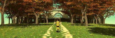 женщина на мотоцилк стоковое изображение