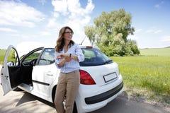 Женщина на дороге Стоковые Изображения