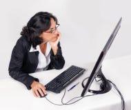 Женщина на работе Стоковое Изображение RF