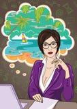 Женщина на работе иллюстрация штока