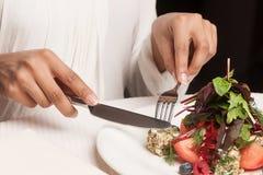 Женщина на ресторане. Стоковое Изображение