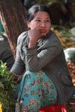 Женщина на рынке Стоковые Изображения RF